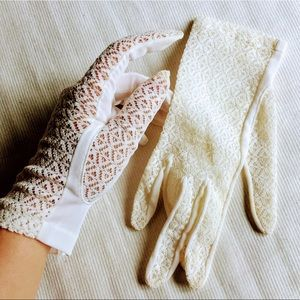 Vintage lace nylon made in Japan Max Mayer Gloves